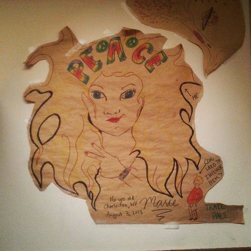Peace Ink Drawing Blueblaze Restaurant Damascus northCarolina Appalachiantrail Marie
