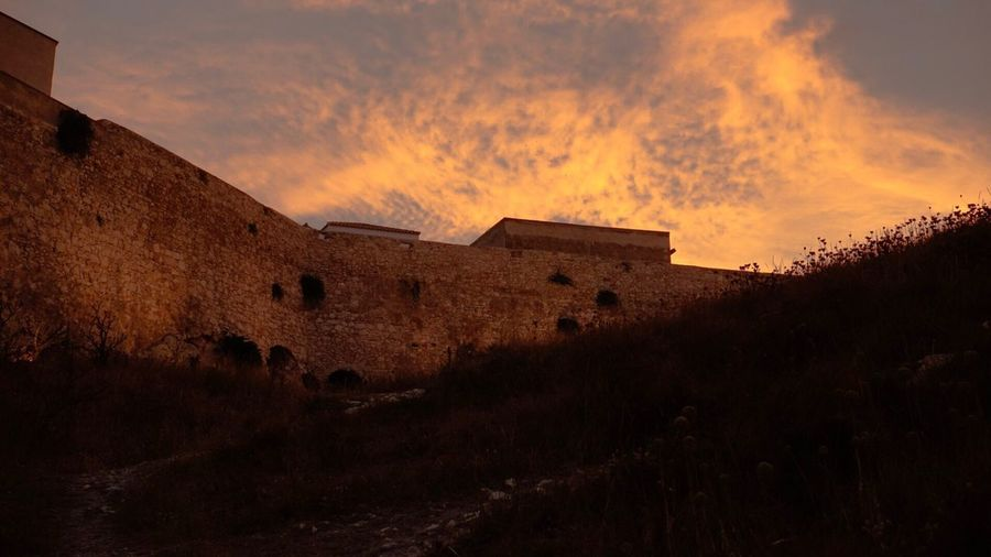 Vieste History The Past Architecture Built Structure Old Ruin Ancient Beauty In Nature Building Exterior Sunset Sky Damaged Outdoors Italy Vieste Puglia Sony A5000