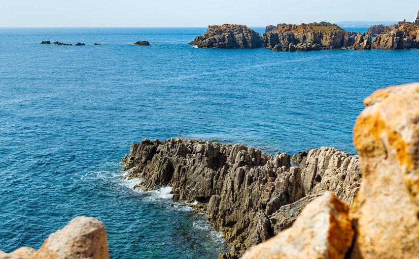 Nice view. Travel No People Coastal Feature Tunis Tunisia Blue Water Sea Beach Rock - Object Sky Horizon Over Water Rocky Coastline Rock Formation Rock Coastline Coast Rocky Mountains