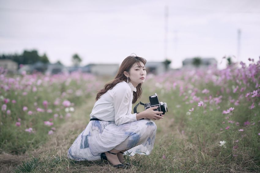 films Flower Flowering Plant One Person Plant Sitting Field Nature Full Length Women Purple Lifestyles Land Beauty In Nature Growth Real People Leisure Activity Young Adult Adult Lavender Hairstyle