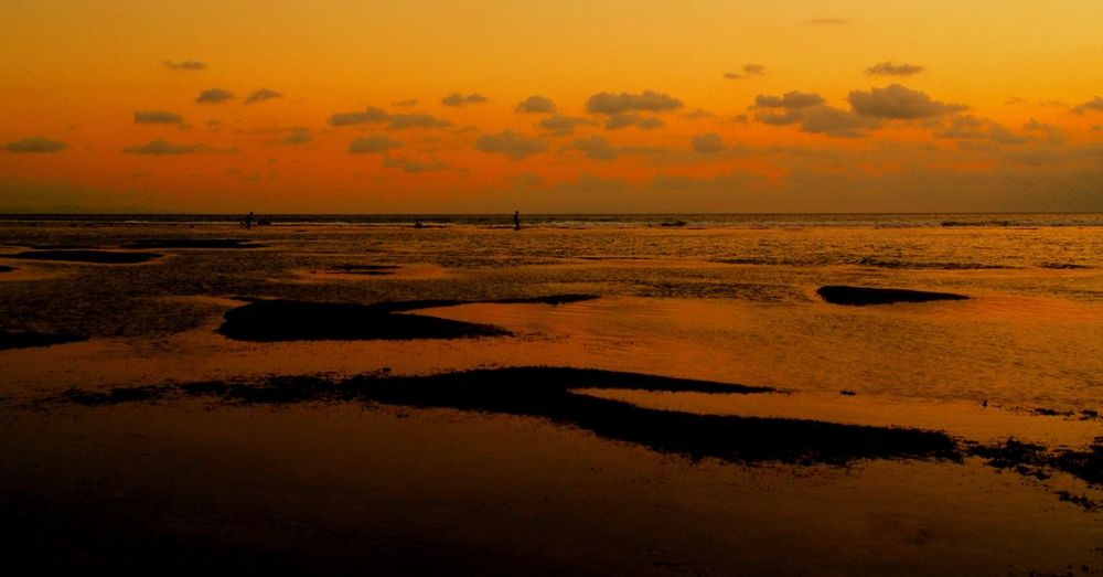 Sunset Lombok Water Sea Sunset Tranquility Tranquil Scene Nature Scenics Beauty In Nature Horizon Over Water Sky Beach Reflection Silhouette Cloud - Sky Idyllic Sand Dusk No People Outdoors Low Tide
