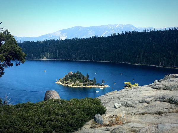South Lake Tahoe. Emerald Bay. Nature Tree Beauty In Nature Water Mountain Tranquil Scene Scenics Outdoors Lake No People Forest Sky Blue