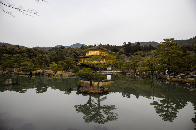 The Golden Pavilion Architecture Gold Golden Japan Kyoto Lake Landscape Nature Outdoors Pavilion Reflection Reflections In The Water Scenics Shrine Travel Travel Destinations Water Miles Away