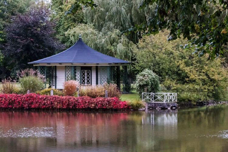 Architecture Castle Park Day Flower Garden Green Color Outdoors Park - Man Made Space Pavillion Pink Color Plant Reflection Roof Scenics Sweden Tourism Tranquil Scene Tranquility Tree Vittskövle Water Waterfront