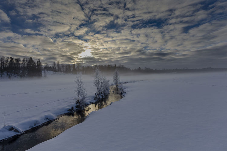 Sweden Beauty In Nature Cloud - Sky Cold Temperature Day Frozen Lake Landscape Nature No People Outdoors Scenics Sky Snow Sweden Nature Tranquil Scene Tranquility Tree Water Weather Winter