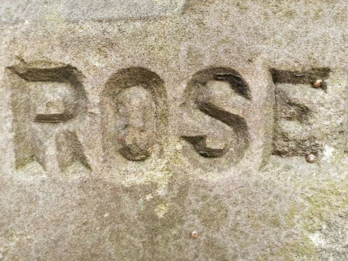 Part Of Victorian Carved Stone Word Letters Western Script Rosé No People Backgrounds Full Frame Outdoors Stone Material Stone Exposed To The Elements