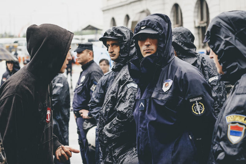 Rioter and police City Day Medium Group Of People Men Outdoors People Police Force Police Uniform Real People Riot Standing The Photojournalist - 2017 EyeEm Awards Togetherness Young Adult The Street Photographer - 2017 EyeEm Awards Focus On The Story The Photojournalist - 2018 EyeEm Awards The Troublemakers
