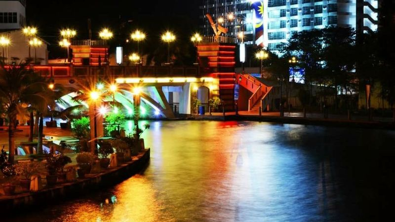 Light Nightphotography Environment Relaxing Historical Building Malacca Malaysia Tourist Attraction  Riverside