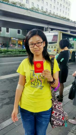 It is the first time for me to donate blood,I am very glad that I can give my own power on welfare.——a freshman