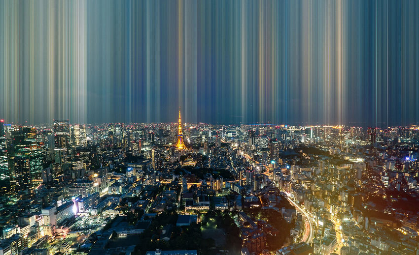 Tokyo tower, japan - communication and observation tower.