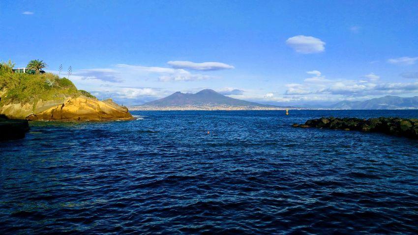 Naples Sea And Sky Vesuvio Volcano Autumn🍁🍁🍁 Silence Italia Bike Touring Sea Gaiola