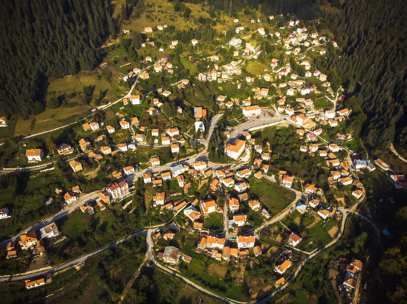 Aerial View Nature House Building Exterior Built Structure Architecture Day Outdoors Sunlight Beauty In Nature Village Drone  Dronephotography Dji DJI Mavic Air Mountain Village