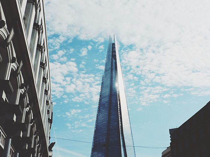 Seeing this building for the first time in real life just standing proud in the sky amongst Londons older buildings was something else. It looked so futuristic London Architecture Architectureporn The Shard Sky Photography Getting Inspired Cityscapes City EyeEm LOST IN London