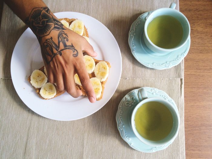 Vegan Yummy breakfast Breakfast Bread Banana Breakfast ♥ The EyeEm Breakfast Club Tea Tea Time Morning Rituals Morning Good Morning