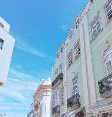 Low Angle View Architecture Window Building Exterior Balcony Built Structure Day Residential Building No People Outdoors Sky City City Home Façade Pattern Portuguese Portuguese Architecture Figueira Da Foz, Portugal Close-up Tiles Portugal Blue Travel Destinations Architecture
