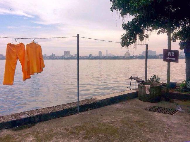 Wc Tây Hồ Hanoi, Vietnam Clothesline Washing Monk Attire Westlake Vietnam Amateur Photography Hanging Around Hanging Drying Clothes Drying