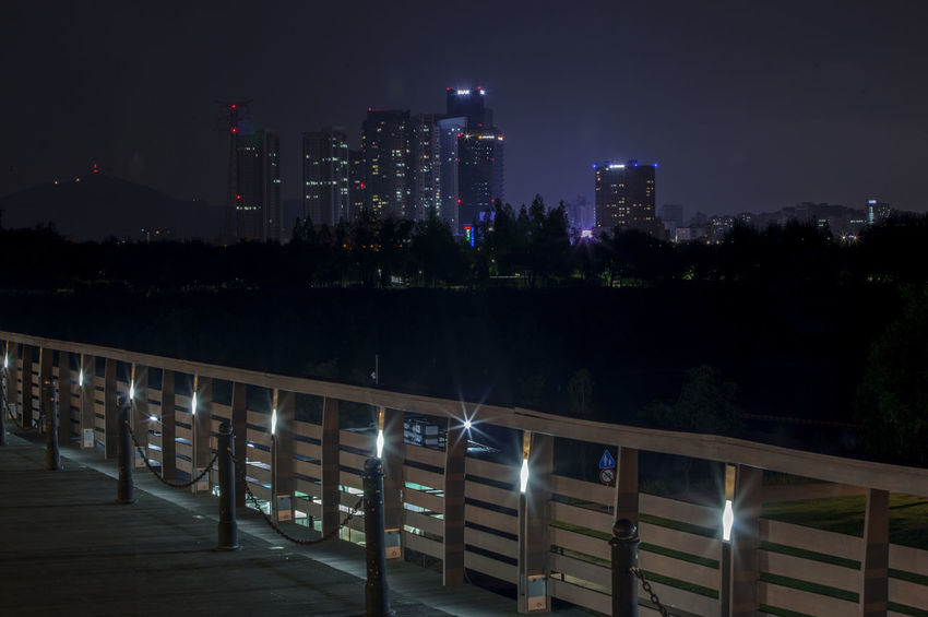 Architecture Built Structure City City Life Cityscape Dark Development Glowing Illuminated Light Lighting Equipment Modern Night No People Office Building Outdoors Seonyugyo Sky Skyscraper Tall Tall - High Tranquility Travel Destinations Urban Skyline Yanghwa Hangang Park