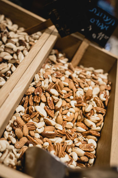 mixed nuts Market Nuts Snack Close-up Day Food Food And Drink Freshness Healthy Eating Indoors  Israel Large Group Of Objects No People Shop Wood - Material