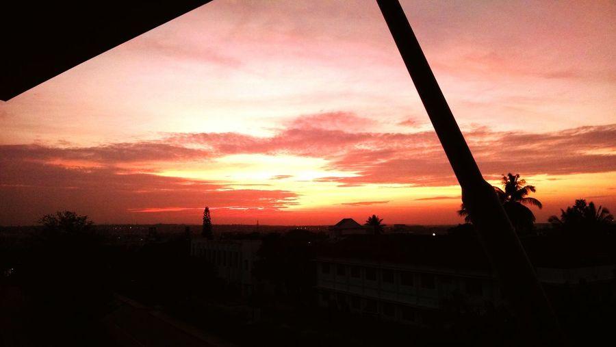 Orange Sky Beatiful Sky Evening Sky Hubli