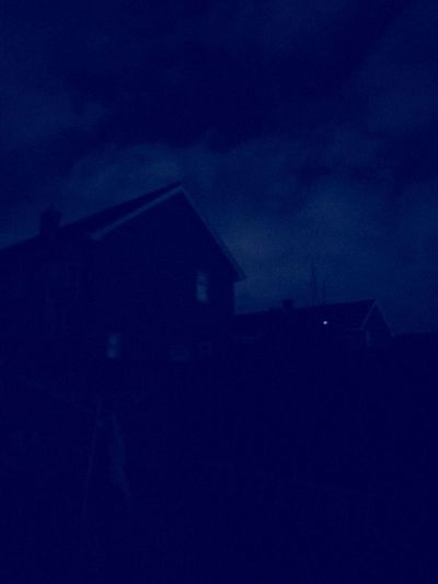 Blue House Night Architecture Building Exterior Sky Built Structure Building Dark Copy Space No People Silhouette Outdoors Nature House Low Angle View Illuminated Cloud - Sky Dusk Blue City
