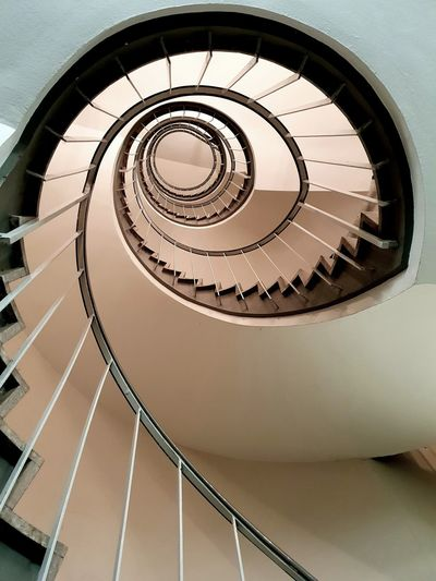 Wendeltreppe/spiral staircase from below Selected For Partner Spiral Staircase Spiral Stairs Steps And Staircases Spiral Steps Staircase Railing Stairs Architecture Built Structure Hand Rail Geometric Shape Full Frame Turning