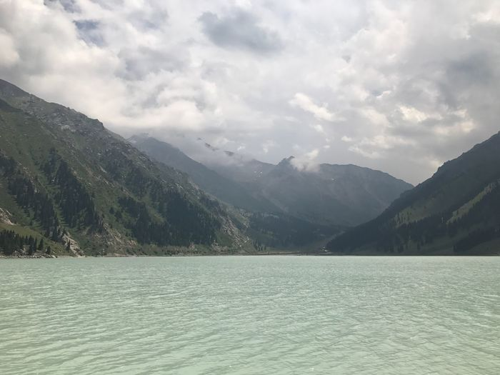 Mountain lake, Mountain Nature Beauty In Nature Sky Lake Waterfront Outdoors Day Water Tranquility Scenics No People Mountain Range Scenery