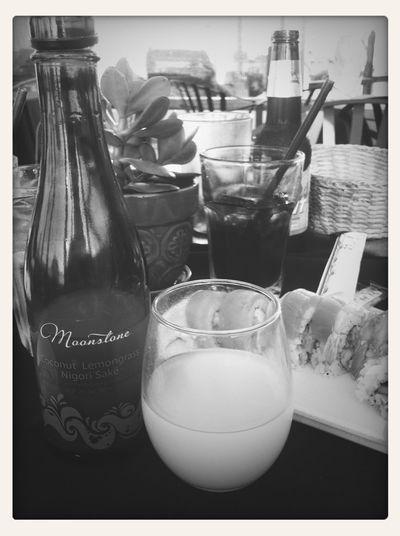 Having Coconut Lemongrass Sake :)