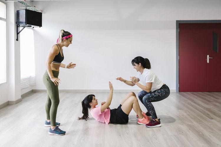 Group of people dancing on floor