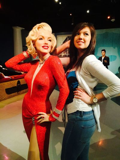 Me and an idol Merilyn Monroe Girl Beauty Beautiful Pretty Madametussauds California Losangeles