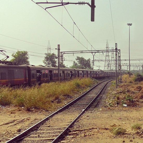 Train Railway Station Tracks Noon Vashi Navimumbai
