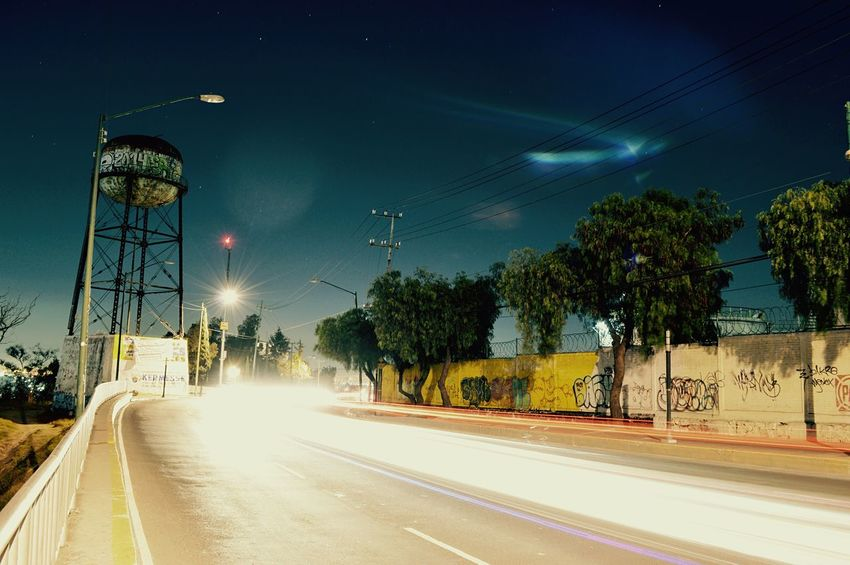 Nocturna Por Mi Casa De Paseo Larga Exposicion Nikon