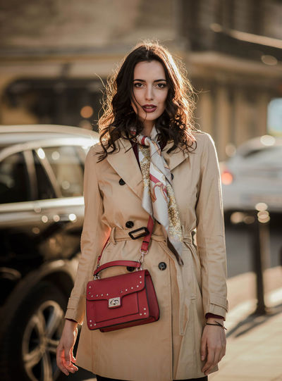 City Street Style Fashion Fashion Model Fashion Photography Europe Photographer Model Sunset Sunny Spring Springtime Backlit Scarf Outfit Lifestyle Style Clothes Makeup Retouch Women Young Adult Standing One Person Sunglasses Urban Modern Bag 85mm Nikond610 Nikon Week On Eyeem Getty+EyeEm Collection Getty Images Premium Collection Posing Sun