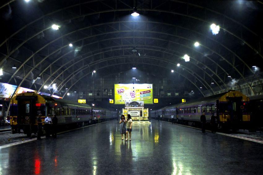 Bangkok Thailand. หัวลำโพง Landmark Lendscape Street Kodakvision3 Spotted In Thailand