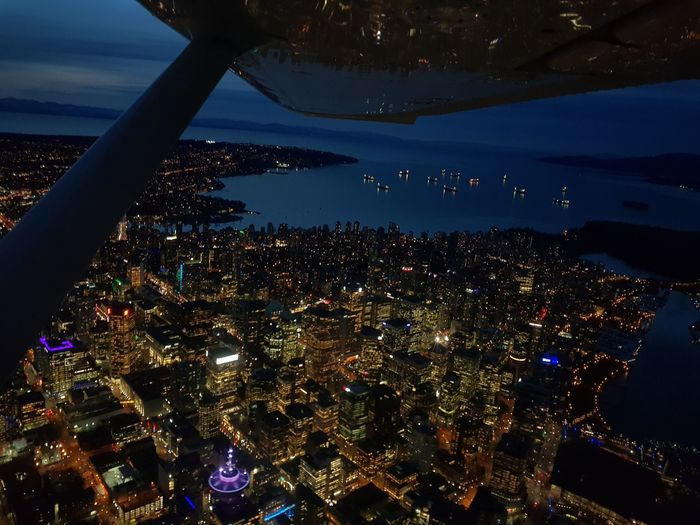 Vancouver Downtown Skyscraper Nihon Night Dark Light Astronomy City Cityscape Illuminated Star - Space Arts Culture And Entertainment Aerial View Sky Moon Surface The Great Outdoors - 2019 EyeEm Awards The Architect - 2019 EyeEm Awards