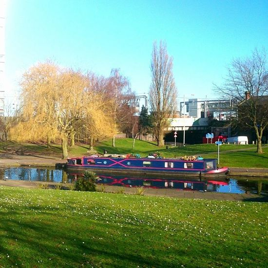 The only nice spot in Wolverhampton Picoftheday Instadaily Instanation sunshine boat canal instance nofilter xperiaZ1