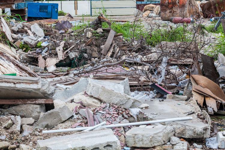 Junk site indicating disaster like tsunami, earthquake,tornado or typhoon Tsunami Disaster Typhoon Abandoned Day Destruction Earthquake Earthquake Area Industry No People Outdoors Rubble Tornado Tornado Damage Tsunami Tsunami Area