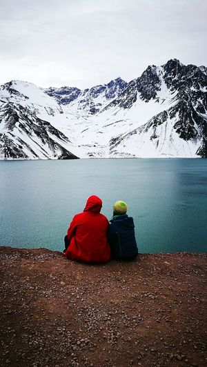Embalse El Yeso Mountain Snow Cold Temperature Red Day Winter Snowcapped Mountain Mountain Range Beach Landscape Water Lake Beauty In Nature Outdoors Nature Scenics No People Sky