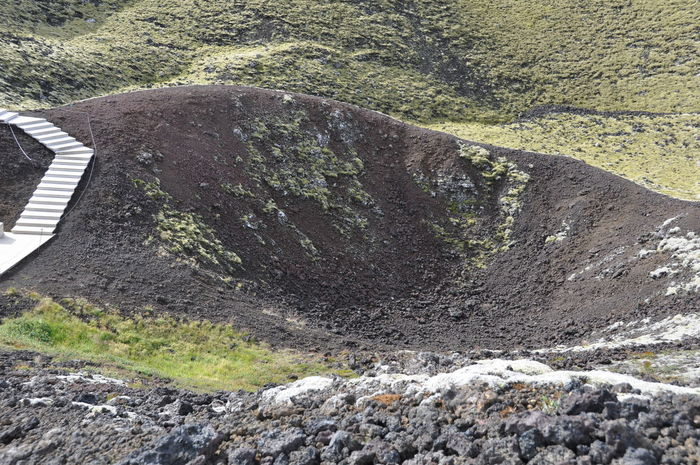 Crater Curve Footpath Grábrók No People Outdoors Surface Level The Way Forward Volcanic  Volcanic Landscape Volcano