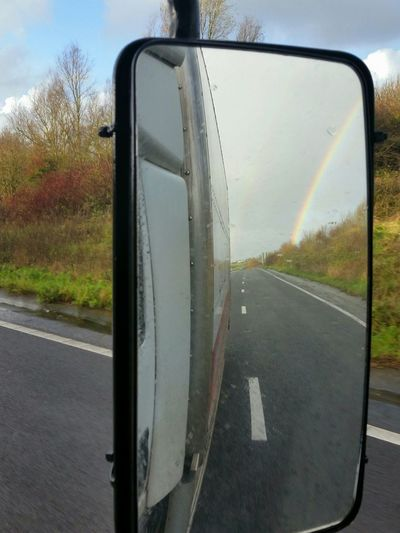 Taking Photos At Work Driving In The Mirror Rainbow December Days