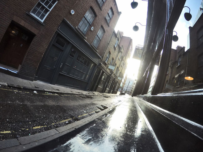 typical london street at a low angle looking into the distance Architecture Building Exterior Built Structure City City Life City Street Edwardian Getty X EyeEm Low Angle Outdoors Perspective Refections Residential Structure Shadows Shadows And Light Shop Window Street Sunlight Wide Angle Window Reflection