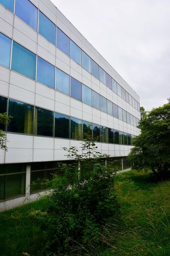 Hagen Lost Place Architecture Building Exterior Built Structure Modern Façade Grass Outdoors Sky University Day Factory Industry Futuristic No People Tree Office Park City