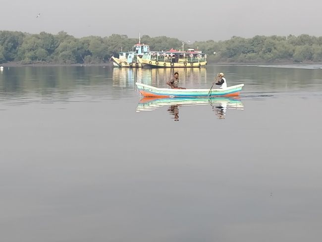Nautical Vessel Water Transportation Mode Of Transportation Waterfront Lake Day Reflection Nature Sky Tranquility Beauty In Nature Scenics - Nature Tranquil Scene Outdoors Non-urban Scene Travel No People Copy Space