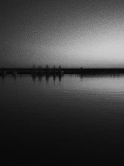 Near-by port, this evening. Autumn Sunset Getting chilly like it should in early November. Minimalism Water Reflections Black And White