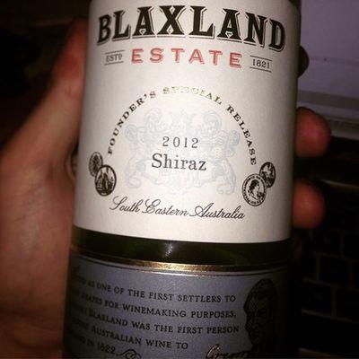 Wino Australia Shīrāz Blaxland 2012 tak na wieczór