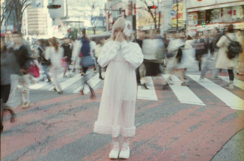 ぽこあぽこスタッフスナップ Celeste Stein Red reverse tights www.pocoapocotokyo.com/cstein.html #ぽこあぽこ #タイツ #tights #canonf1 ぽこあぽこ Pocoapoco タイツ Tights Shibuya109 マルキュー Canonf1