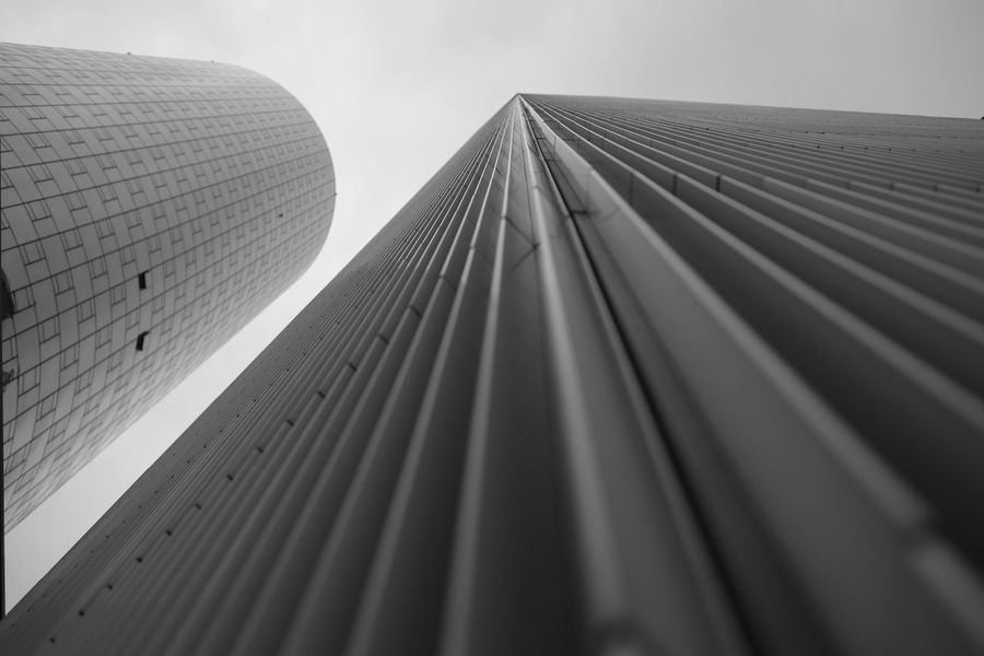 The Graphic City Low Angle View Blackandwhite Black And White Black & White Schwarzweiß Streetphotography Street Fujifilm X-pro2 Fujifilm_xseries Fujifilm Skyline Skyline Frankfurt The Graphic City Urban Geometry Architecture Building Exterior City Low Angle View Modern Outdoors Skyscraper Urban Urban Skyline EyeEmNewHere
