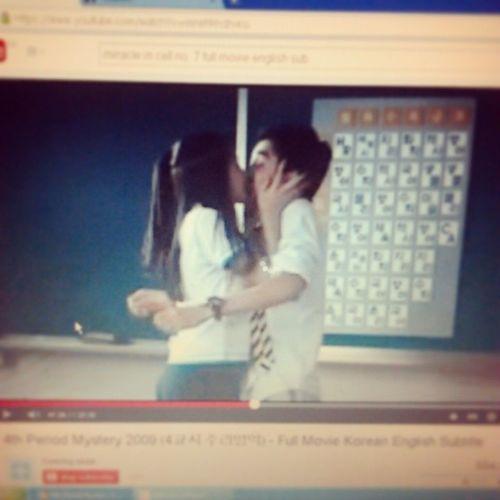 The Epic Kiss Oh em gee :-) :-* <3 <3 <3 Yooseungho Kangsora 4thPeriodMystery2009 Korean KoreanMovie Asian