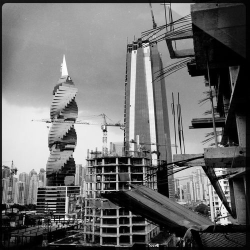 Panama City 08-2013 Panamá Blackandwhite Black And White Architecture