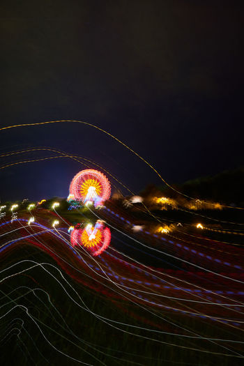 Night Time Photography Dult Regensburg Night Motion Illuminated Long Exposure Multi Colored No People Blurred Motion Glowing Light Trail Arts Culture And Entertainment Light Volksfest Ferris Wheel Ferris Wheel At Night Langzeitbelichtung Dult