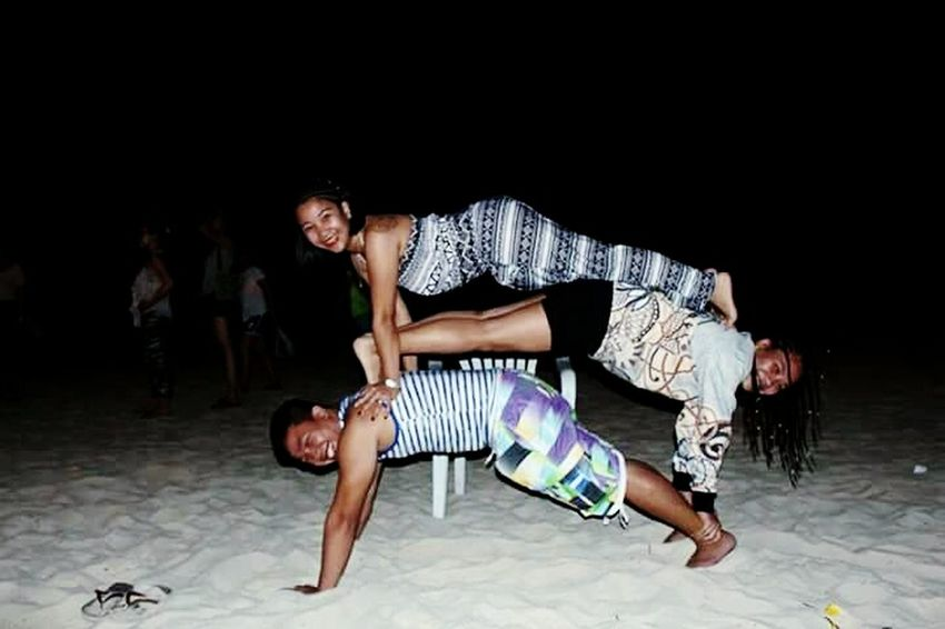 Fun under the moon. Alternative Fitness Fun Stuggle Hanging Out Taking Photos Check This Out Enjoying Life Photographer Summer Summertime Photooftheday Photo Planking Boracay Philippines
